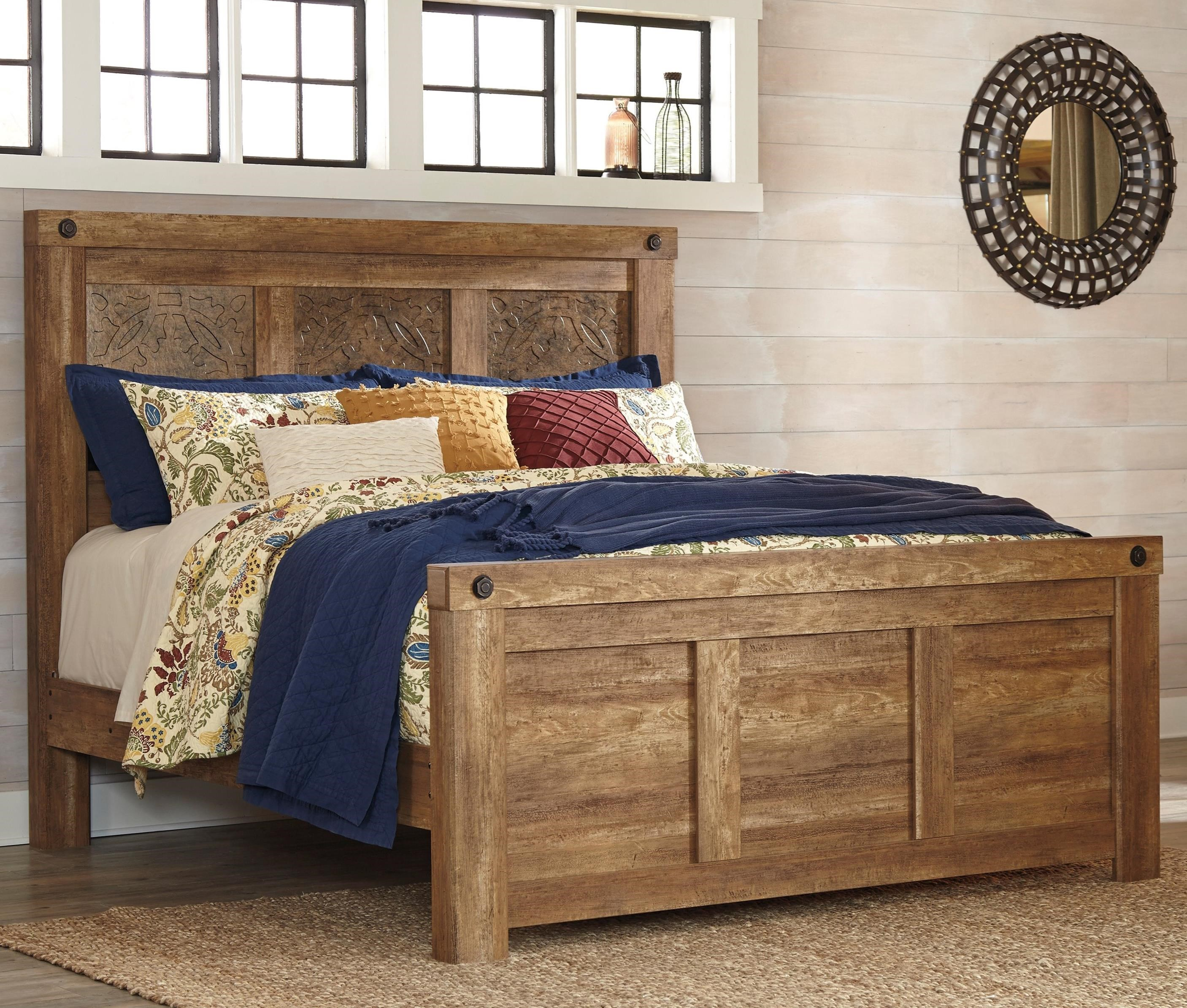 Signature Design by Ashley Ladimier King Mansion Bed - Item Number: B399-58+56+99