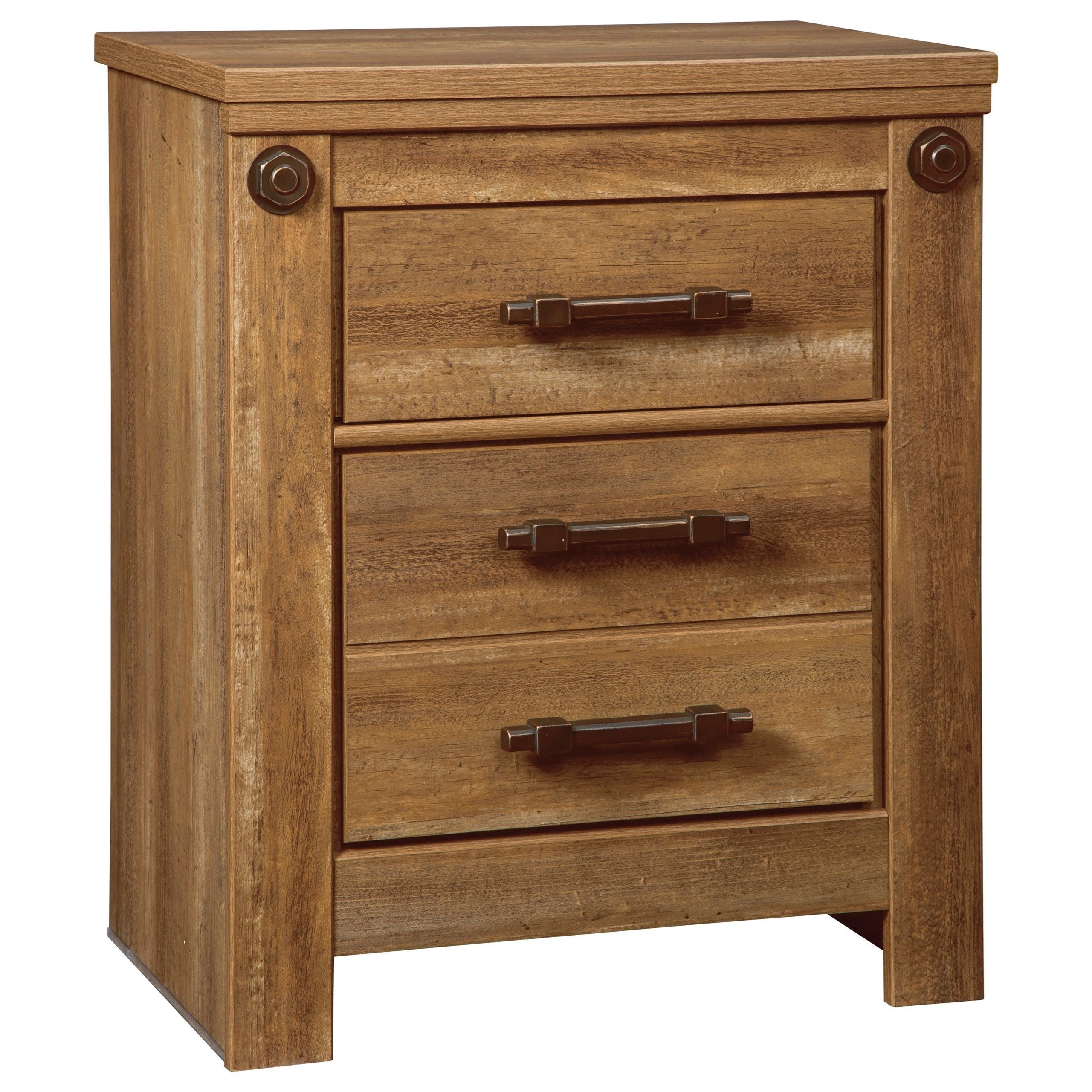 Signature Design by Ashley Ladimier Two Drawer Night Stand - Item Number: B399-92