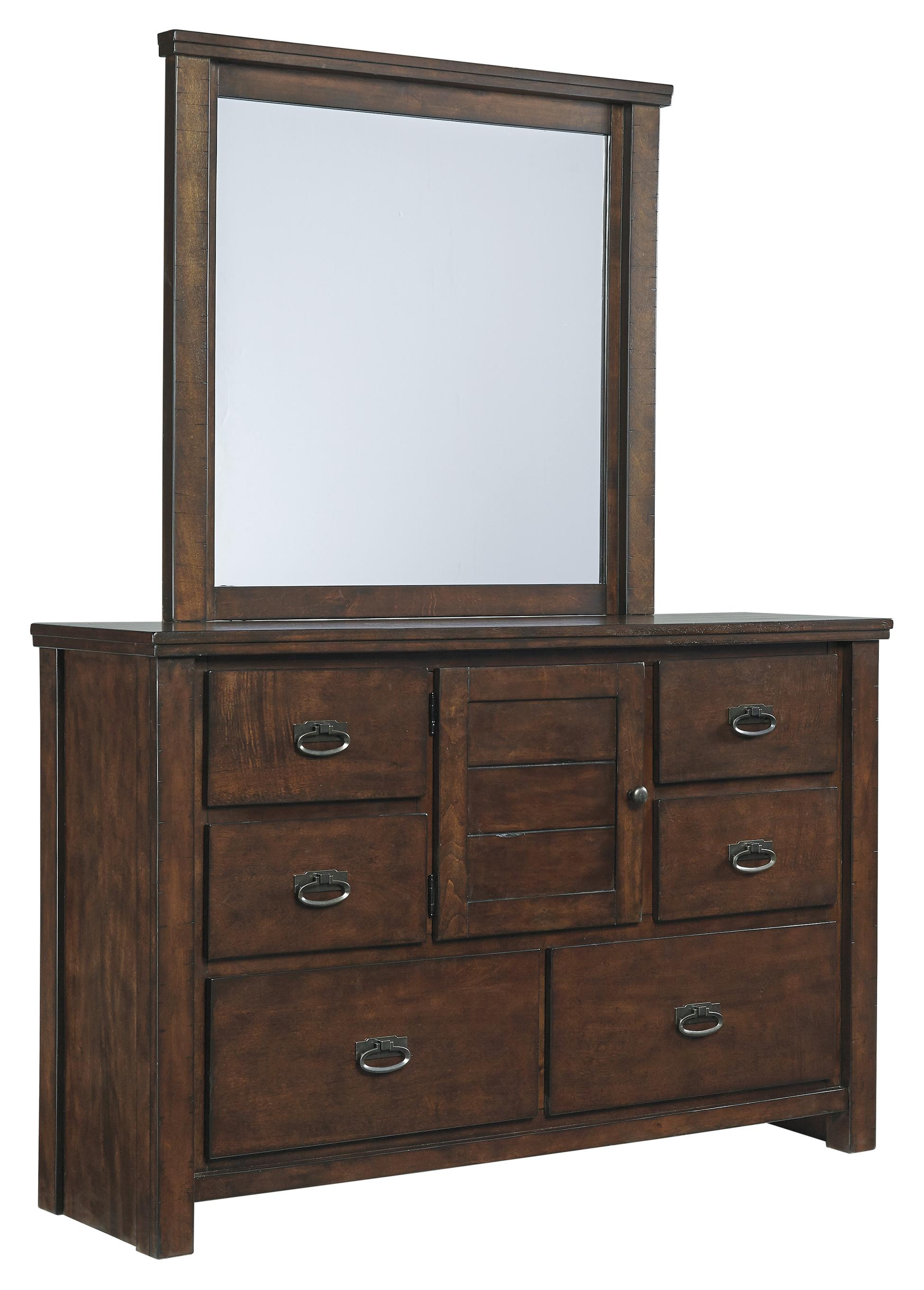 Signature Design by Ashley Ladiville Bedroom Dresser & Mirror - Item Number: B567-21+26
