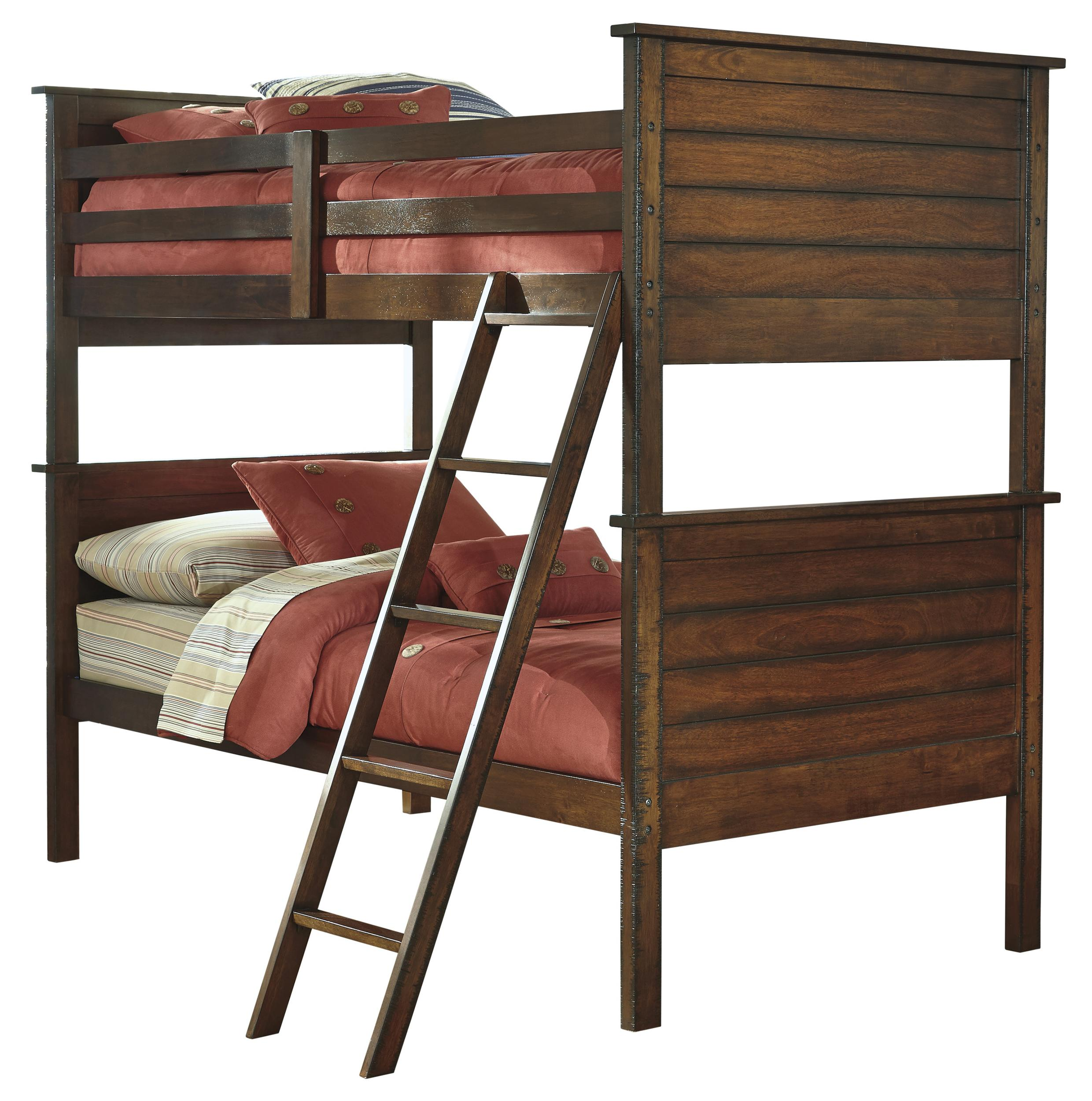Signature Design by Ashley Ladiville Twin/Twin Bunk Bed - Item Number: B567-59P+59R+59S
