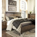 Signature Design by Ashley Lakeleigh California King Panel Bed with Barn Door Style Hardware