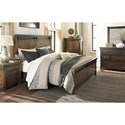 Signature Design by Ashley Lakeleigh Queen Panel Bed with Barn Door Style Hardware