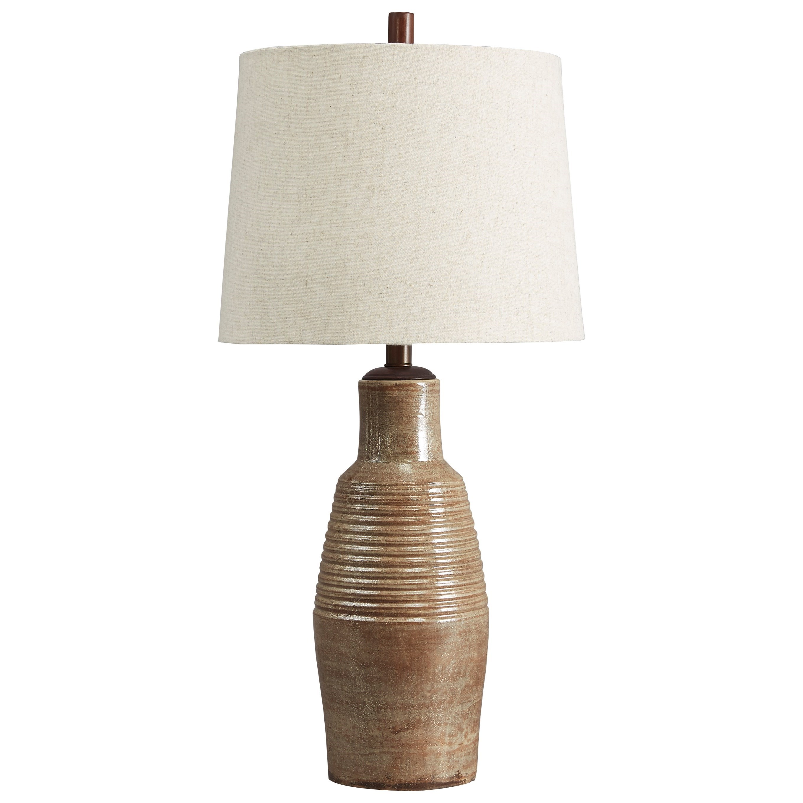 Lamps - Casual Calixto Terracotta Table Lamp by Ashley (Signature Design) at Johnny Janosik