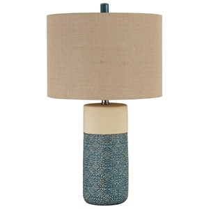 Set of 2 Evalyn Green Ceramic Table Lamps