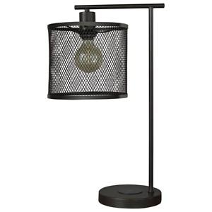 Nolden Bronze Finish Metal Desk Lamp