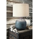 Signature Design by Ashley Lamps - Casual Malthace Patina Metal Table Lamp
