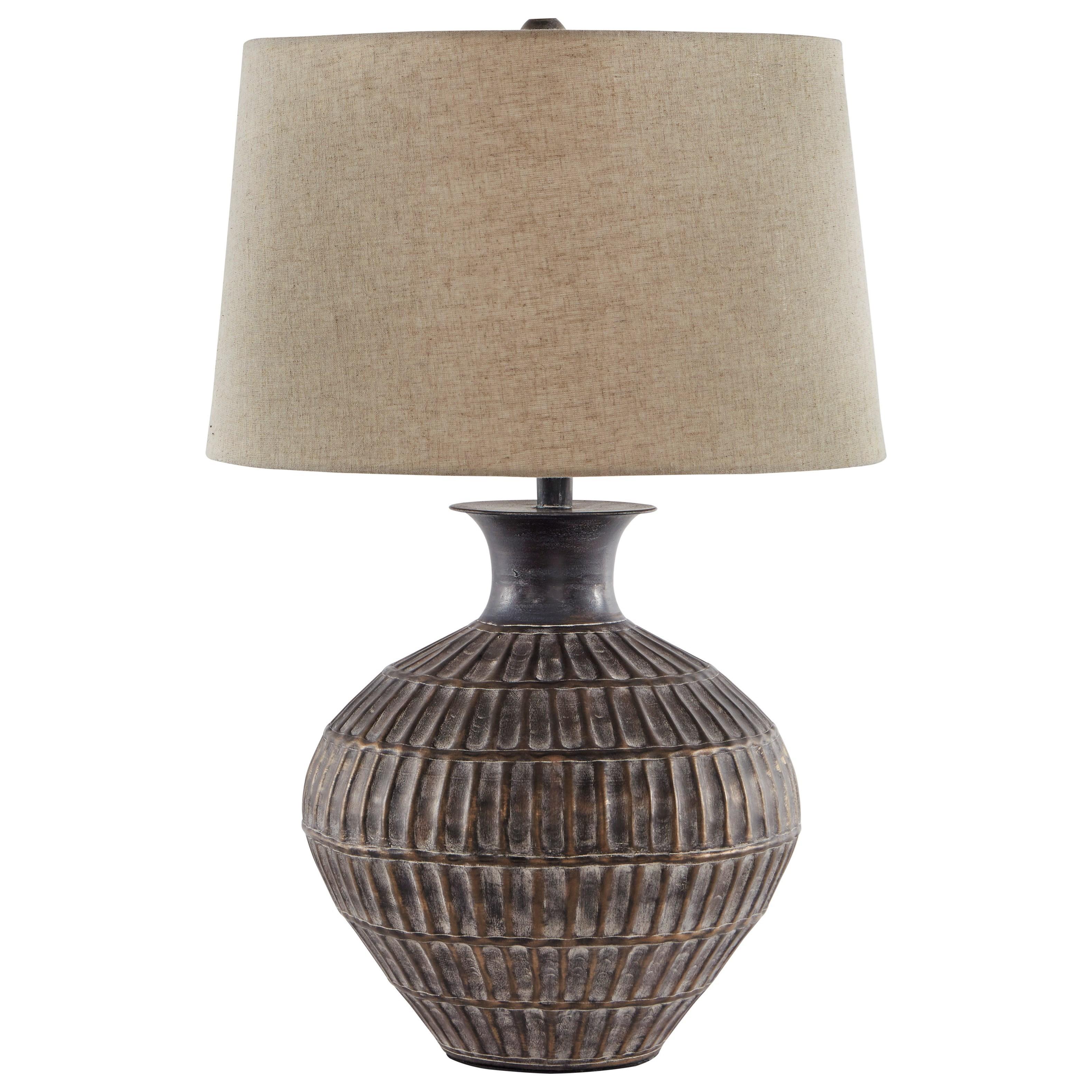 Magan Antique Bronze Finish Metal Table Lamp