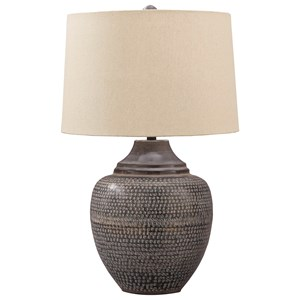 Olinger Brown Metal Table Lamp