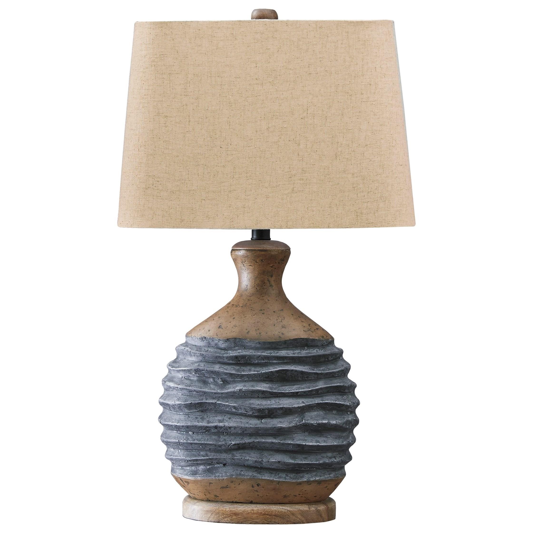 Medlin Gray/Beige Paper Table Lamp