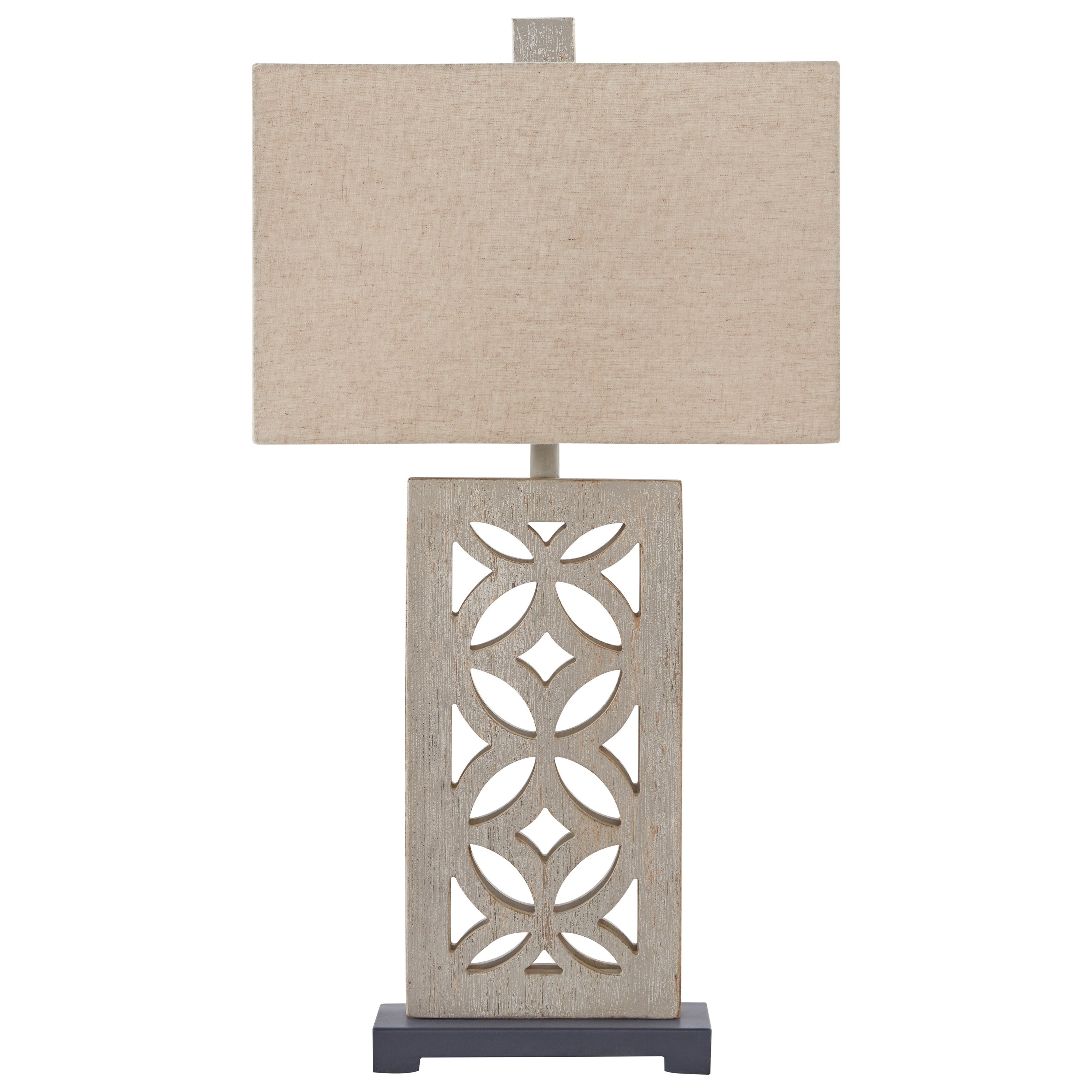 Mairwen Antique Gray Wood Table Lamp