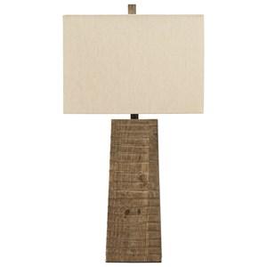 Deonte Brown Wood Table Lamp