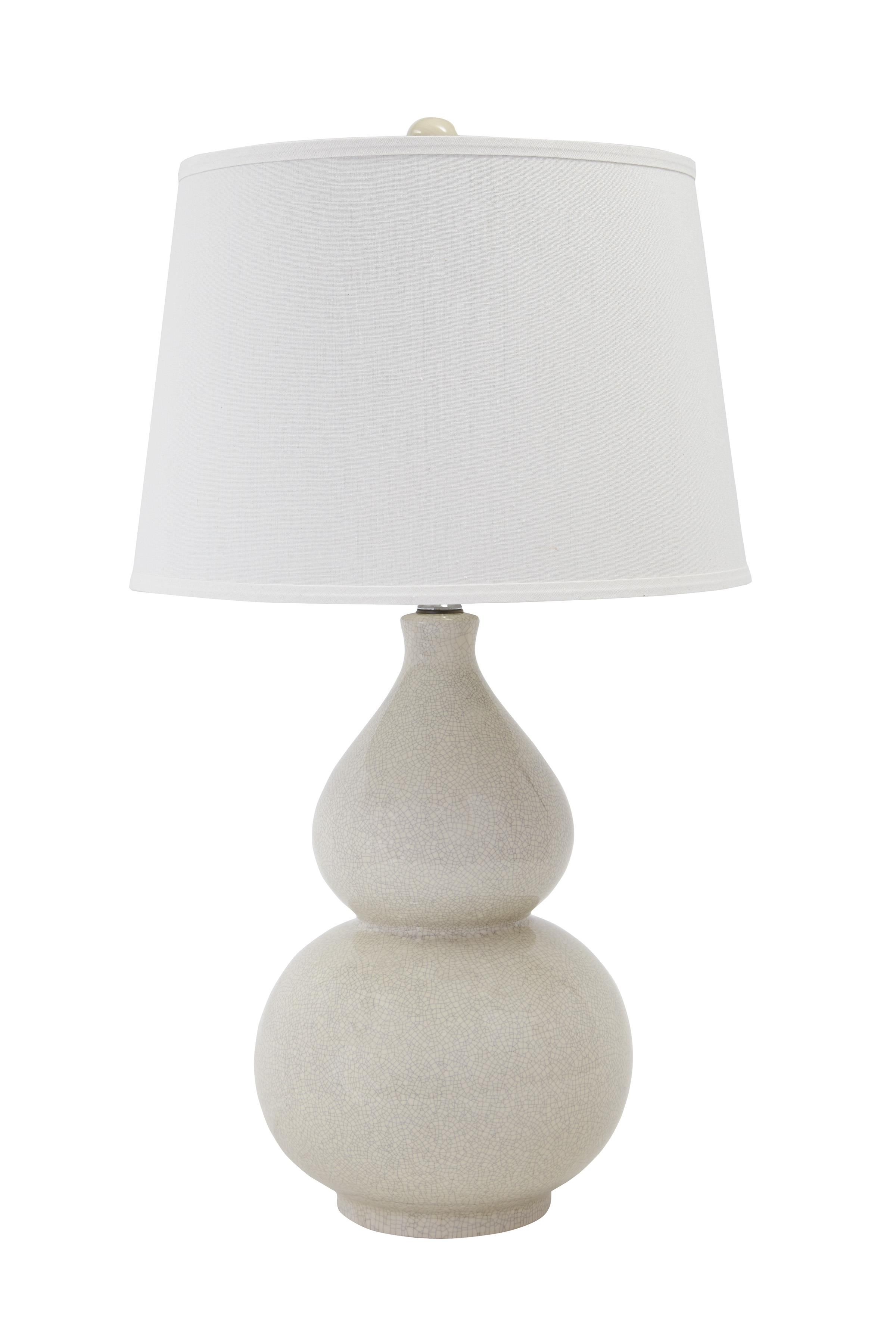 Signature Design by Ashley Lamps - Contemporary Ceramic Table Lamp  - Item Number: L100074