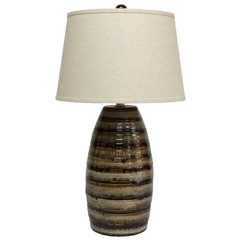 Signature Design by Ashley Lamps - Contemporary Darlon Ceramic Table Lamp - Item Number: L100514