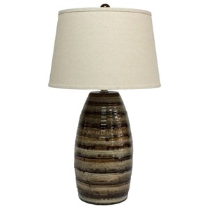 Signature Design by Ashley Lamps - Contemporary Darlon Ceramic Table Lamp