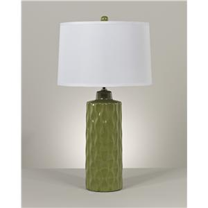 Signature Design by Ashley Lamps - Contemporary Set of 2 Salinda Ceramic Table Lamps