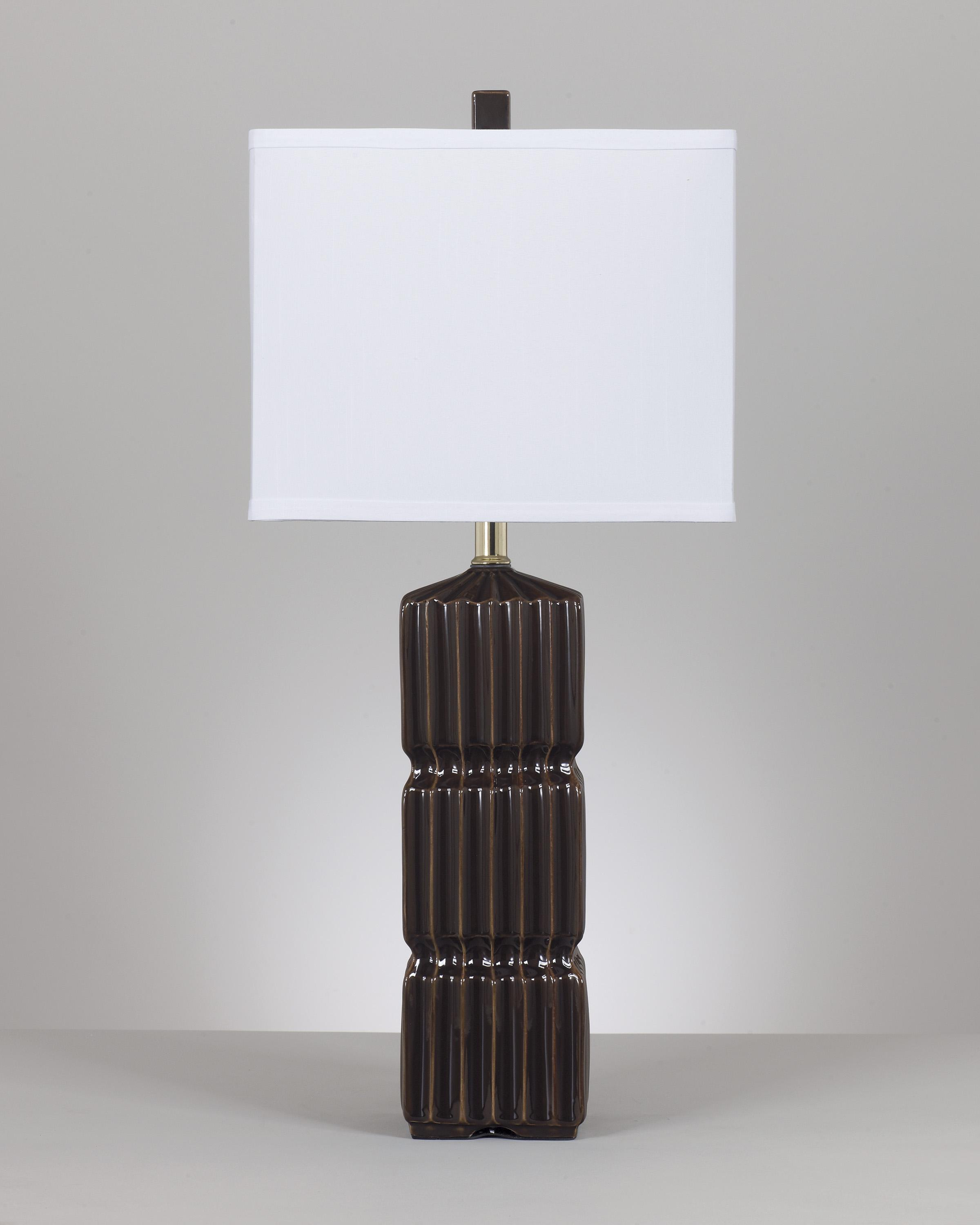 Signature Design by Ashley Lamps - Contemporary Set of 2 Ranissa Ceramic Table Lamps  - Item Number: L117914