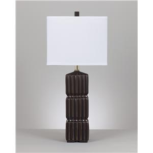 Signature Design by Ashley Furniture Lamps - Contemporary Set of 2 Ranissa Ceramic Table Lamps