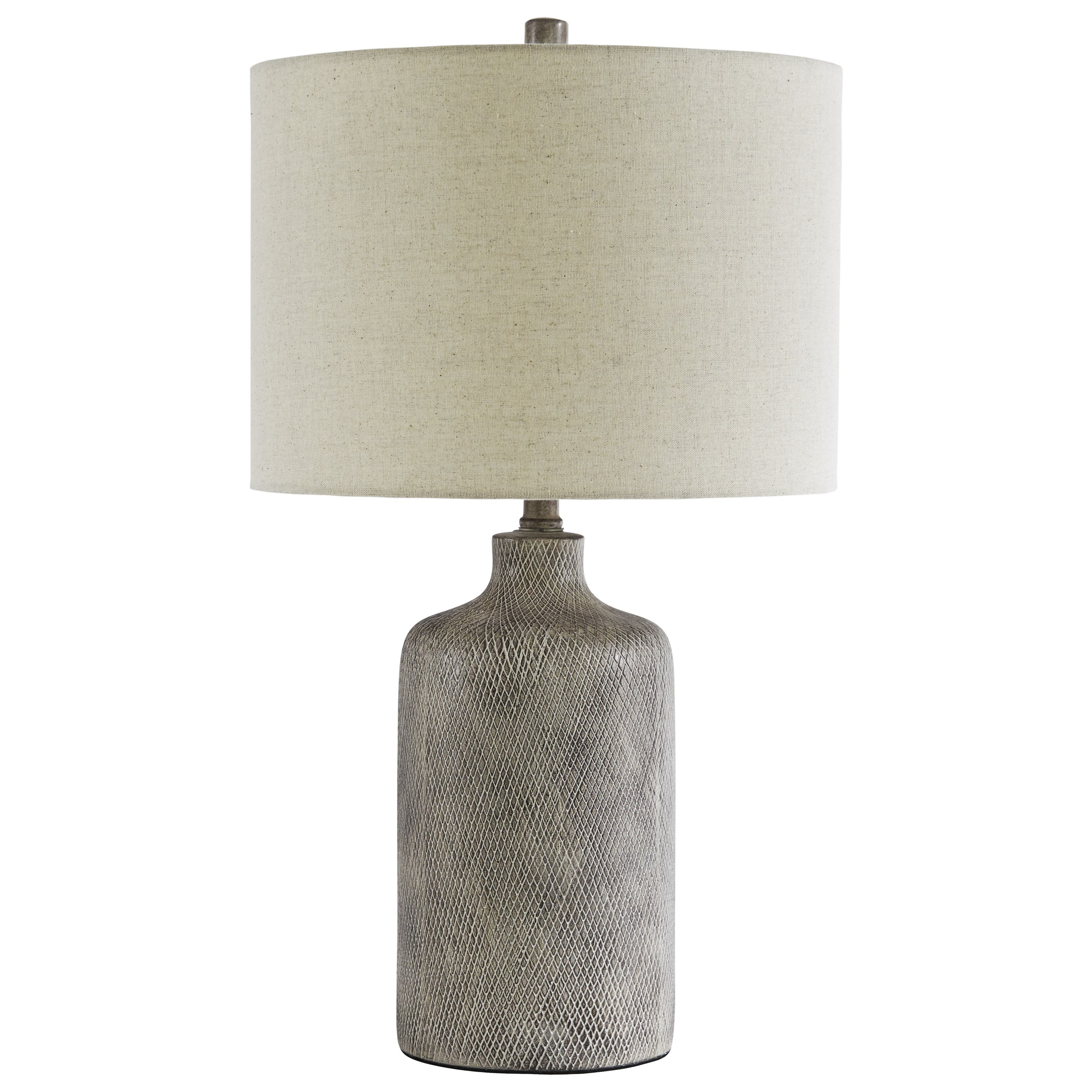 Lamps - Contemporary Linus Antique Black Ceramic Table Lamp by Ashley (Signature Design) at Johnny Janosik