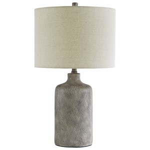 Trendz Lamps - Contemporary Linus Antique Black Ceramic Table Lamp