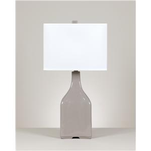 Signature Design by Ashley Lamps - Contemporary Set of 2 Quilla Ceramic Table Lamps