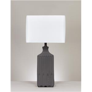 Signature Design by Ashley Lamps - Contemporary Set of 2 Patience Ceramic Table Lamps