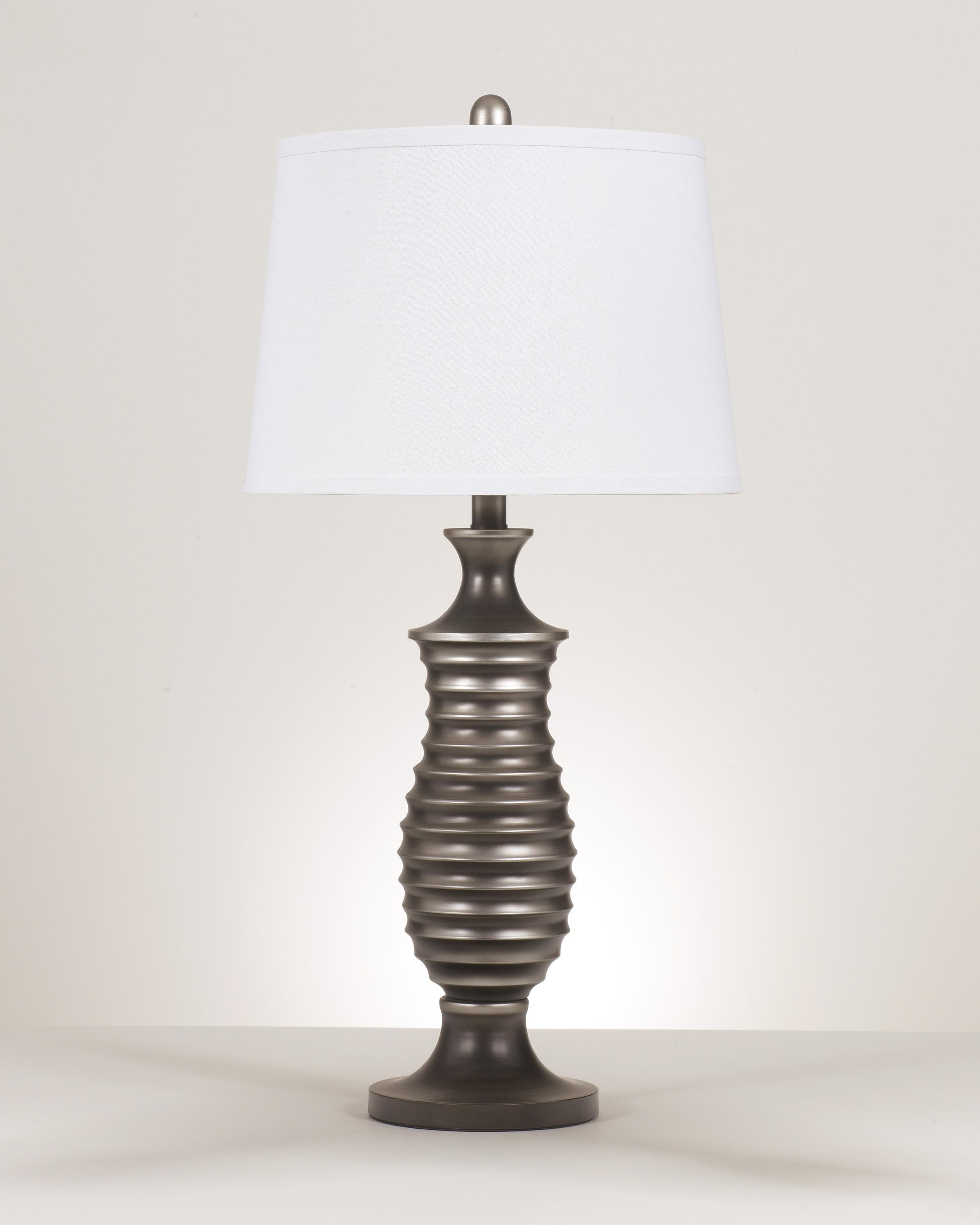 Signature Design by Ashley Lamps - Contemporary Set of 2 Rory Metal Table Lamps - Item Number: L202904