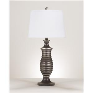 Signature Design by Ashley Lamps - Contemporary  Rory Metal Table Lamp