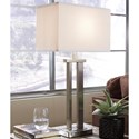 Signature Design by Ashley Lamps - Contemporary Set of 2 Aniela Metal Table Lamps - Item Number: L204054