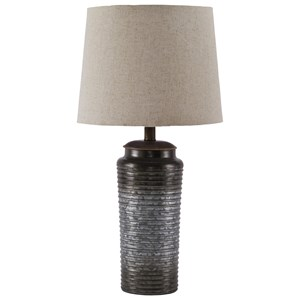 Set of 2 Norbert Gray Metal Table Lamps