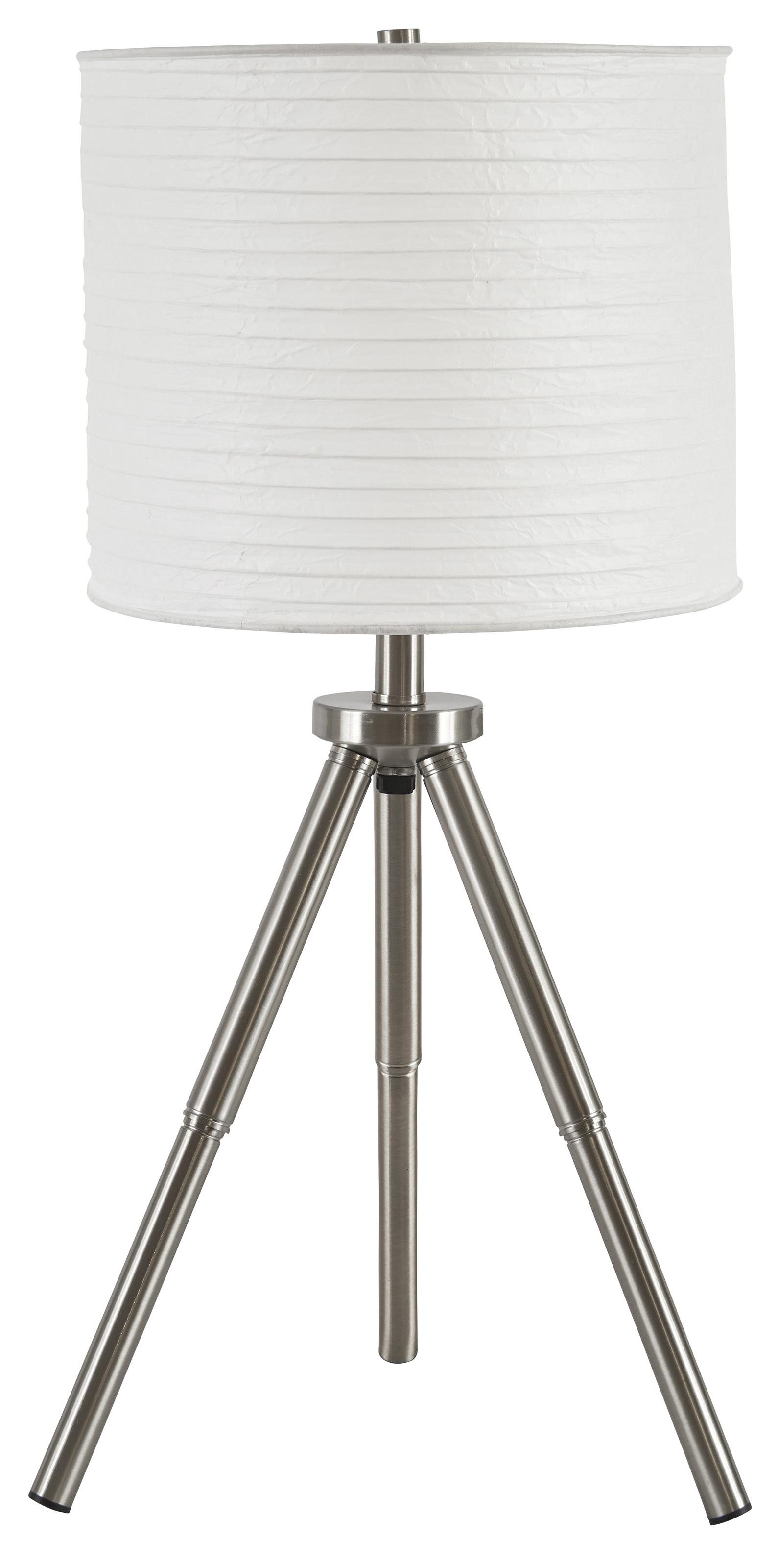 Signature Design by Ashley Lamps - Contemporary Set of 2 Susette Metal Table Lamps - Item Number: L204144