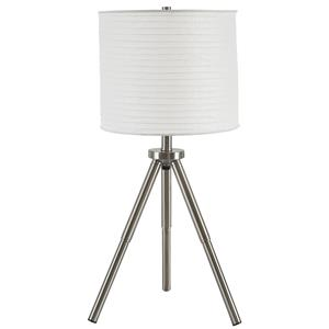 Signature Design by Ashley Lamps - Contemporary Set of 2 Susette Metal Table Lamps
