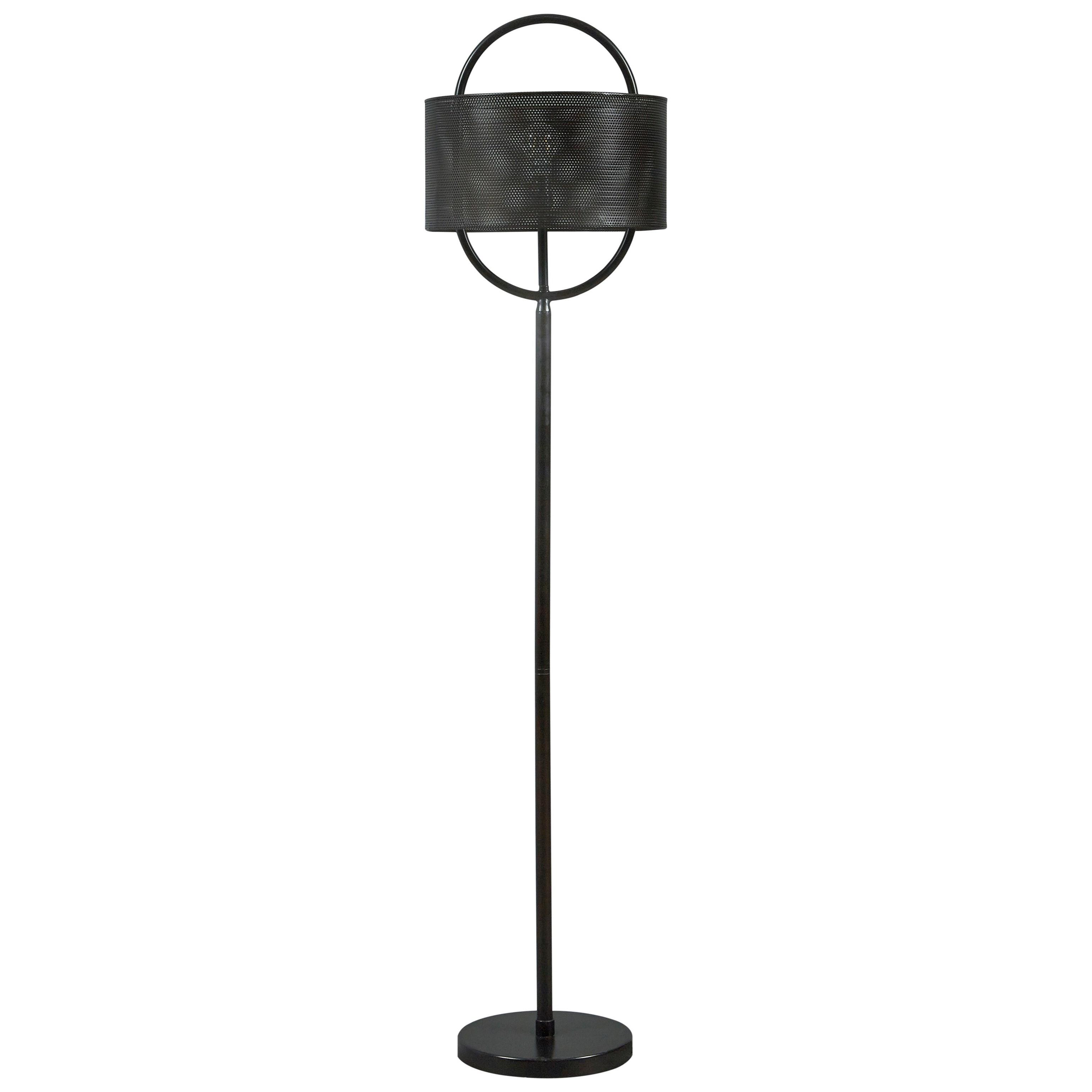 Majed Bronze Finish Metal Floor Lamp