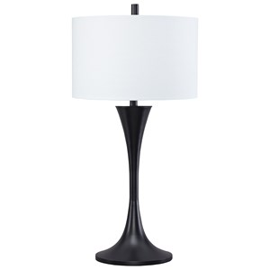 Signature Design by Ashley Lamps - Contemporary Joakim Black Metal Table Lamp