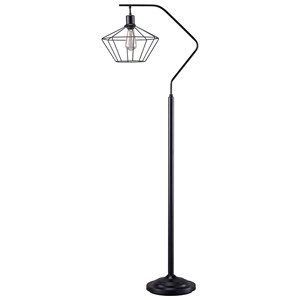 Trendz Lamps - Contemporary Makeika Black Metal Floor Lamp