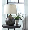 Signature Design by Ashley Lamps - Contemporary Maire Black/Gold Finish Metal Table Lamp