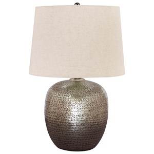 Magalie Antique Silver Metal Table Lamp