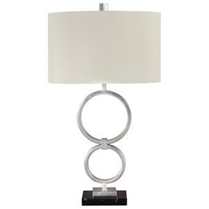 Set of 2 Mansoor Silver Metal Table Lamps