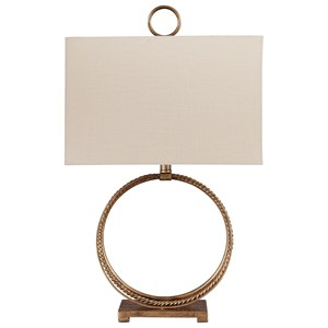 Mahala Antique Gold Metal Table Lamp