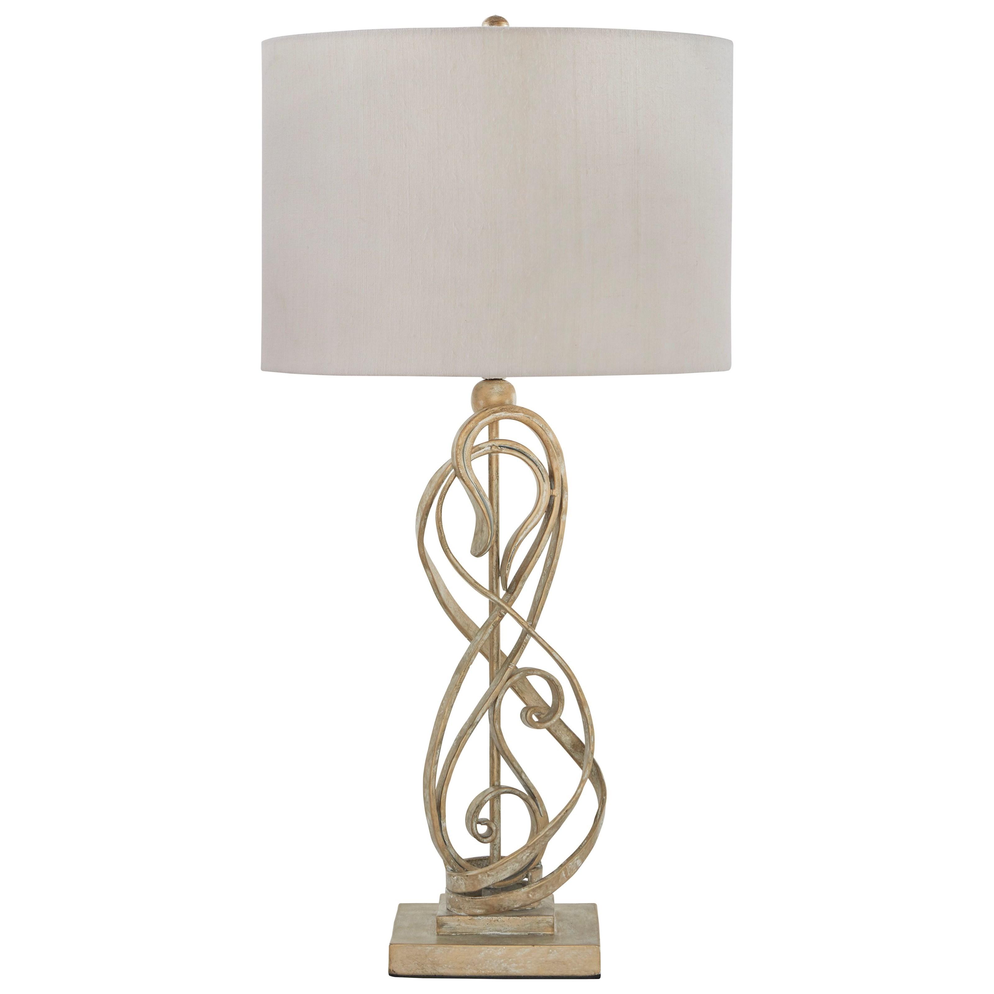 Edric Antique Gold Metal Table Lamp