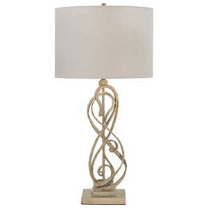 Edric Antique Gold Metal Table Lamp
