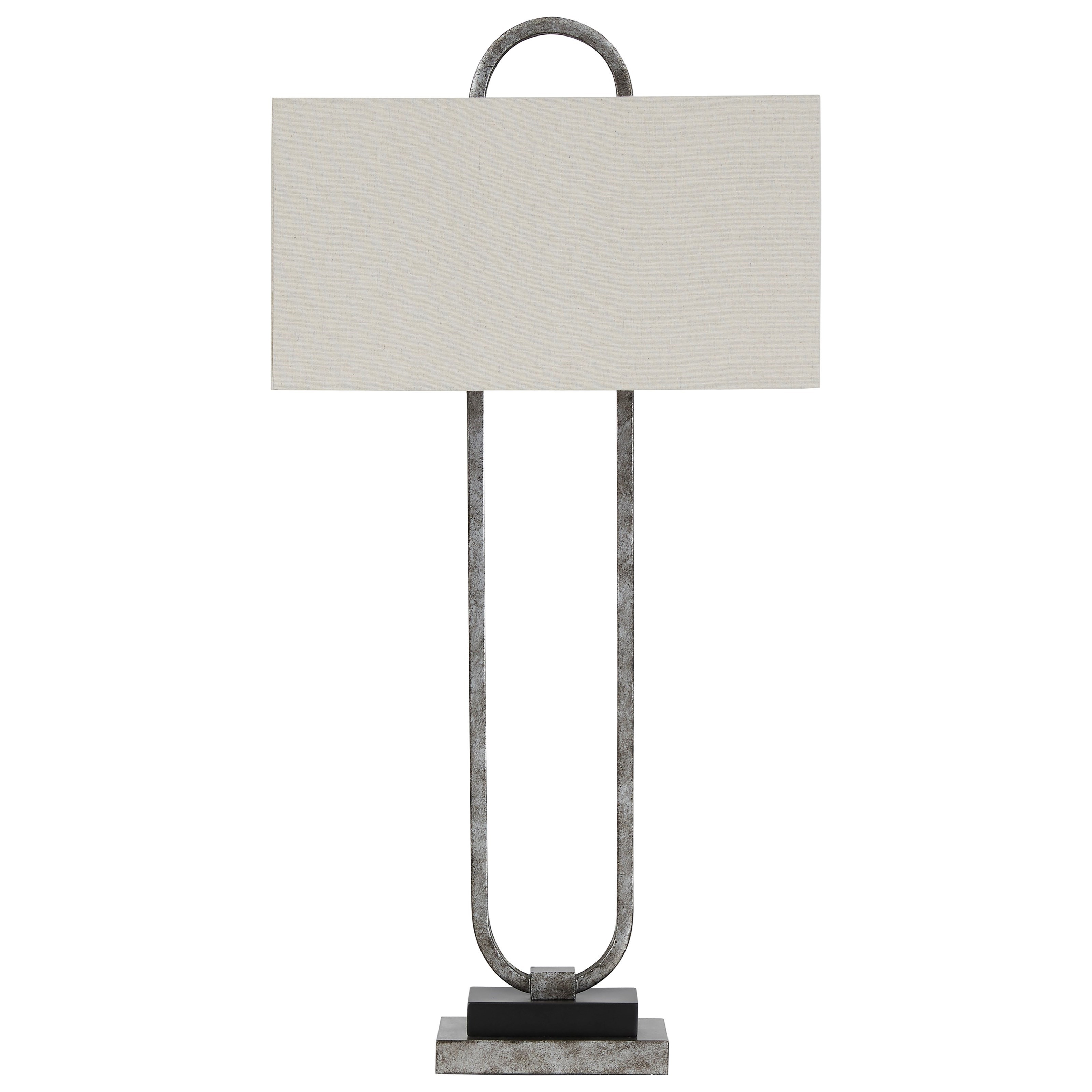 Lamps - Contemporary Bennish Antique Silver Metal Table Lamp by Ashley (Signature Design) at Johnny Janosik