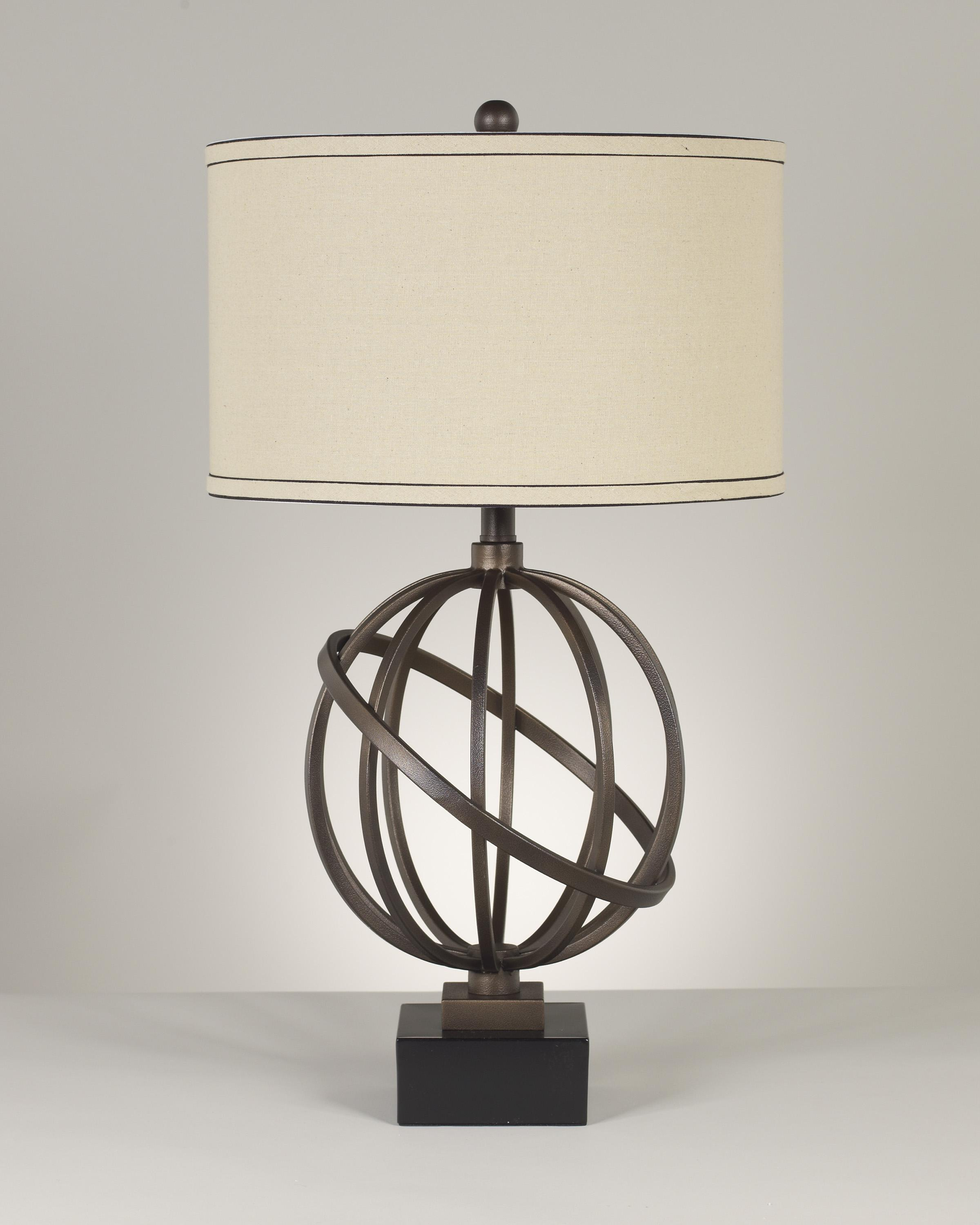 Signature Design by Ashley Lamps - Contemporary Set of 2 Shadell Metal Table Lamps - Item Number: L211894