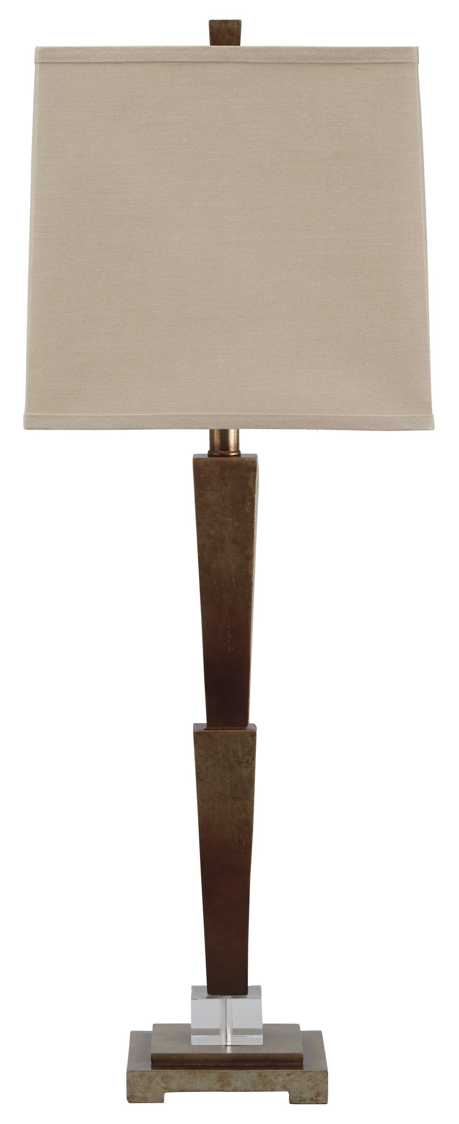 Signature Design by Ashley Lamps - Contemporary Malachy Poly Table Lamp - Item Number: L235004