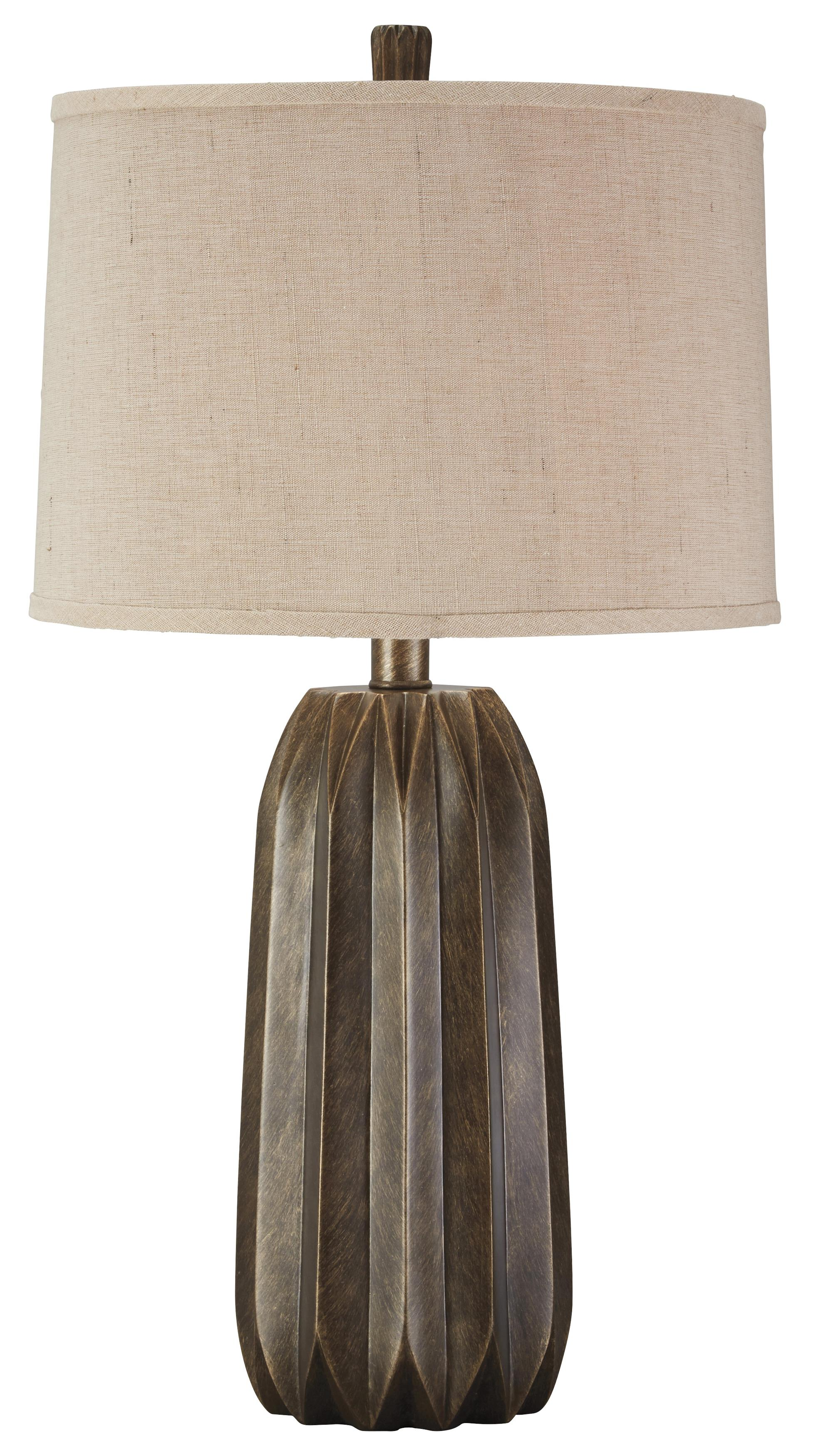 Signature Design by Ashley Lamps - Contemporary Khalil Poly Table Lamp - Item Number: L235014