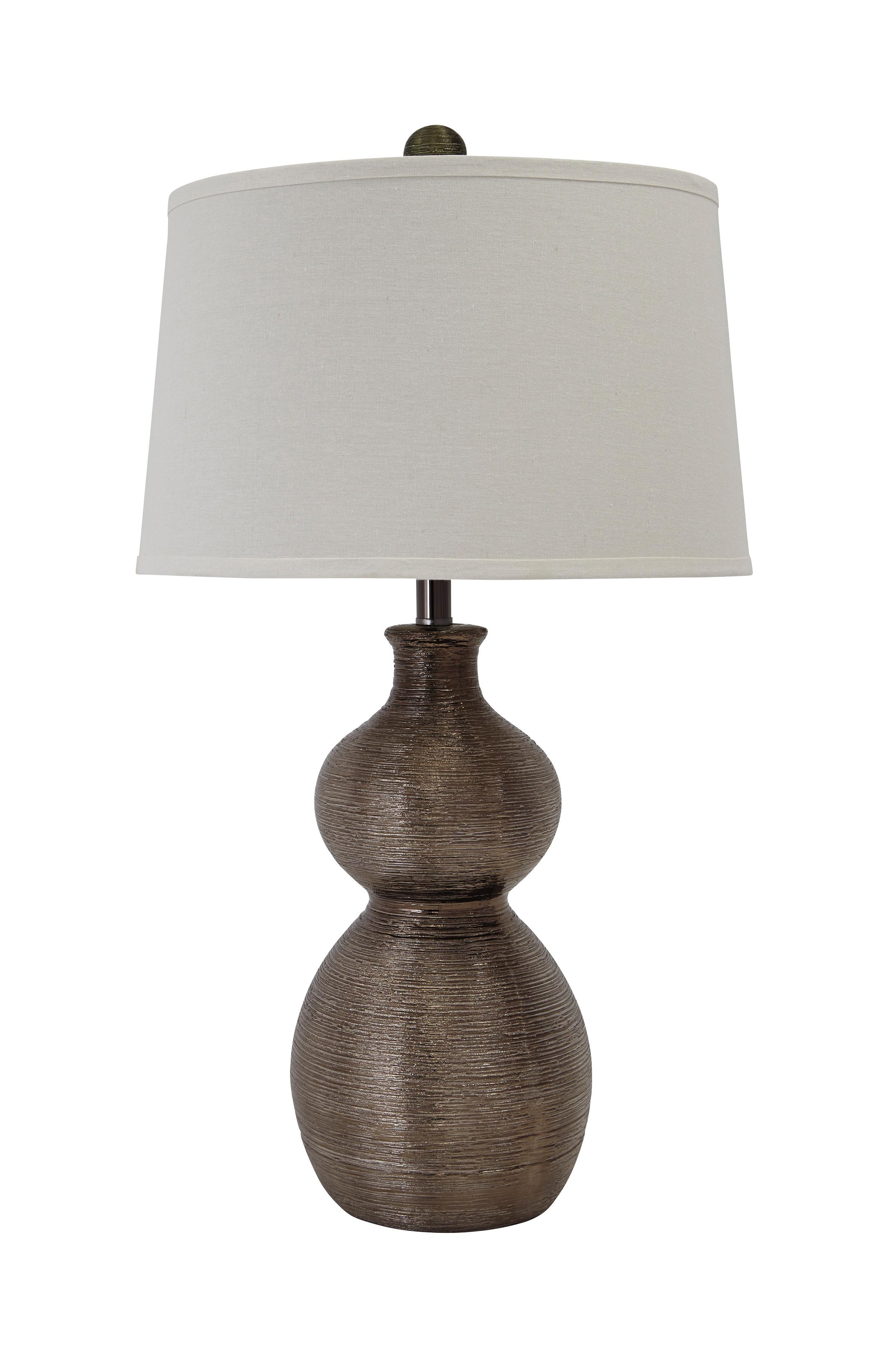 Signature Design by Ashley Lamps - Contemporary Poly Table Lamp  - Item Number: L235394