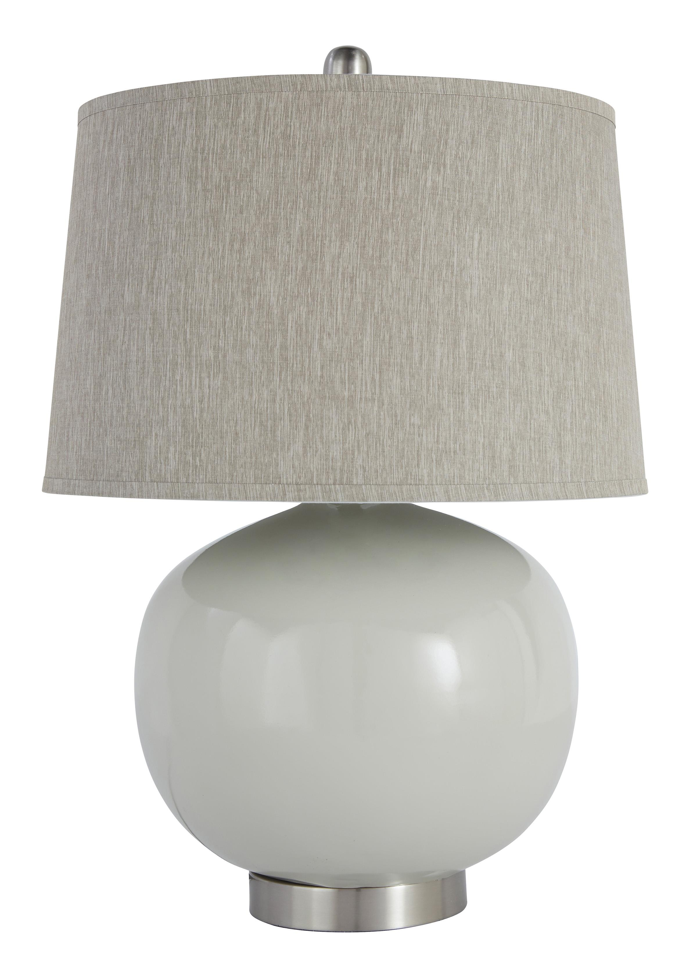 Signature Design by Ashley Lamps - Contemporary Poly Table Lamp  - Item Number: L235404