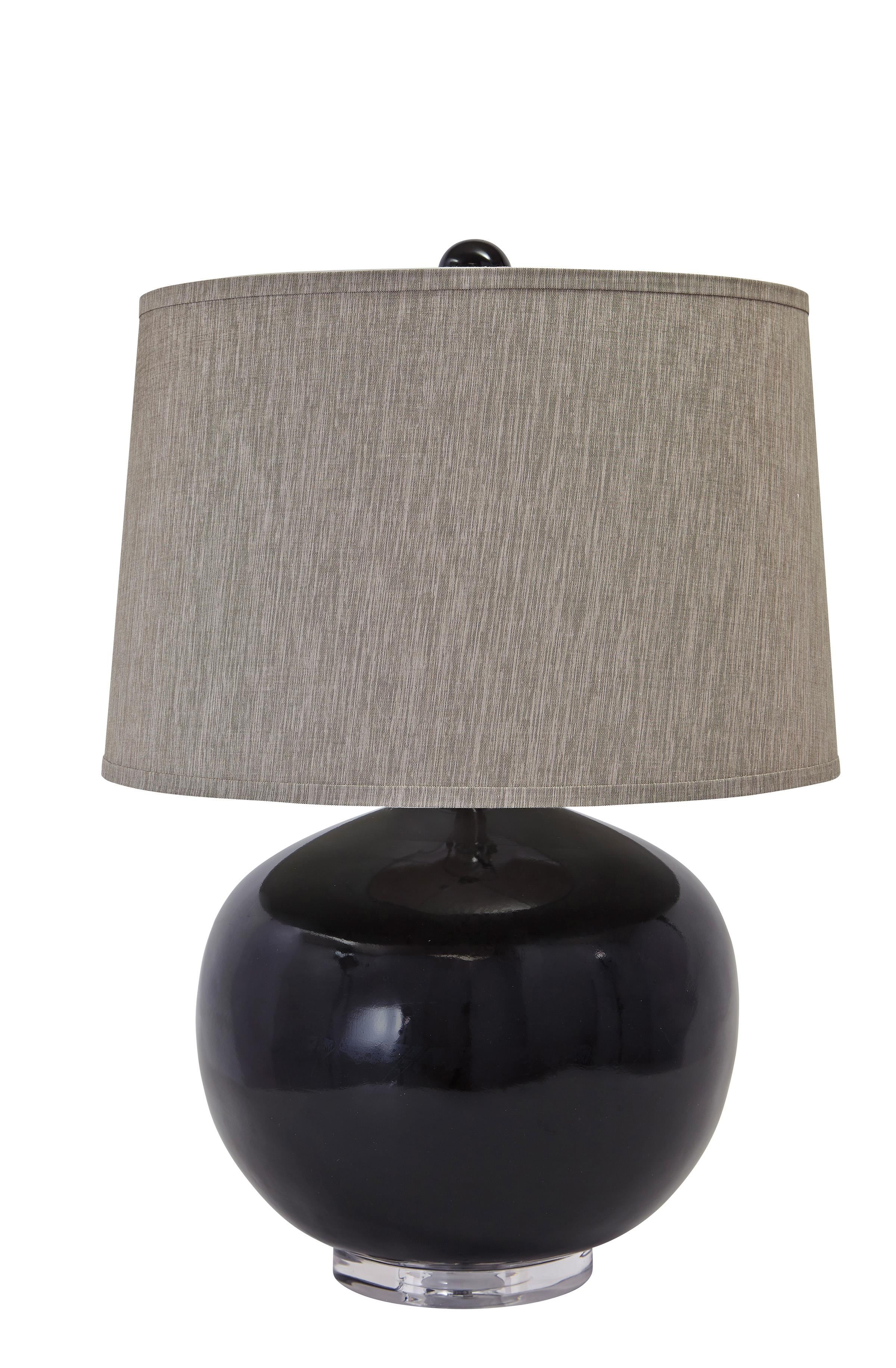 Signature Design by Ashley Lamps - Contemporary Poly Table Lamp  - Item Number: L235414