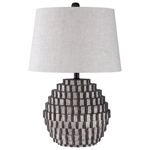 Signature Design by Ashley Lamps - Contemporary Amarine Antique Black Poly Table Lamp