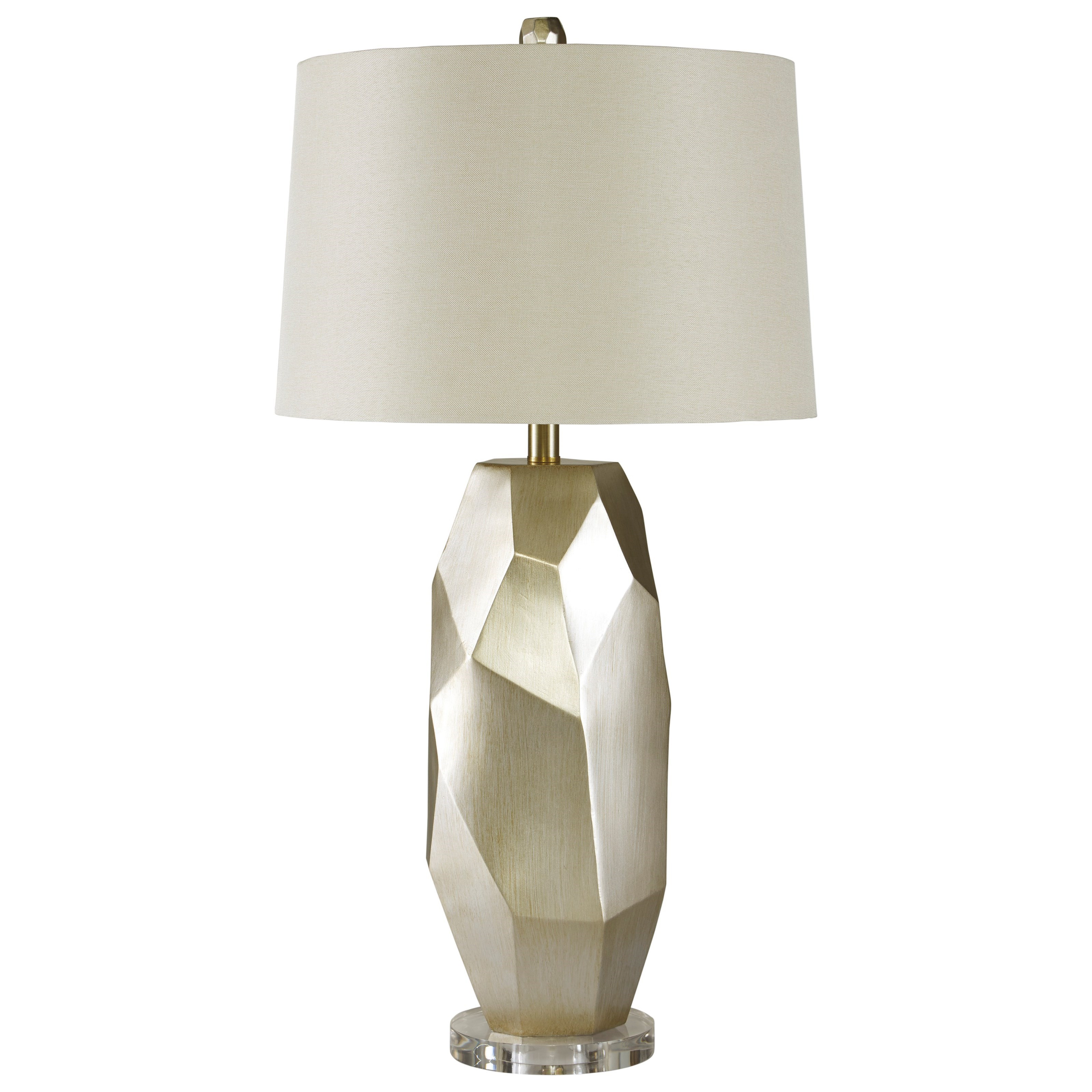 Signature Design By Ashley Lamps Contemporary Darda Silver Poly