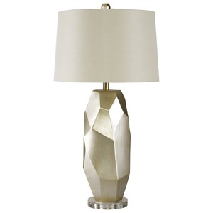 Darda Silver Poly Table Lamp